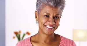 Woman who choose dental implants